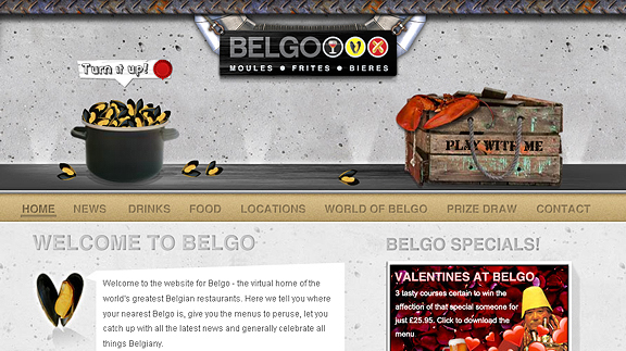 belgo 16 Beautiful Restaurant Websites