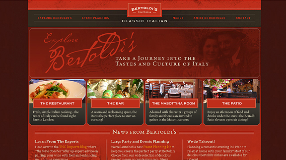 bertoldis 16 Beautiful Restaurant Websites