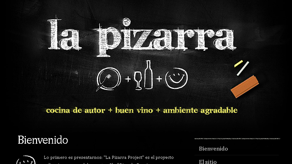 la pizarra 16 Beautiful Restaurant Websites