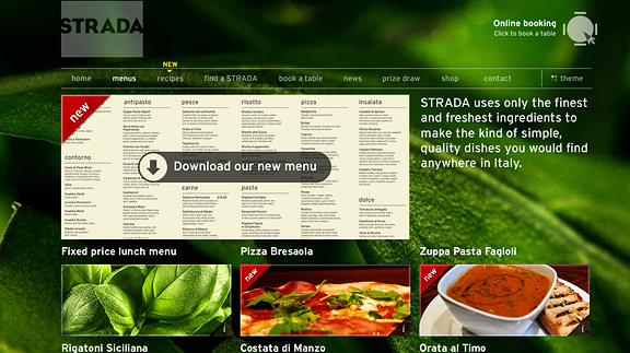 strada 16 Beautiful Restaurant Websites