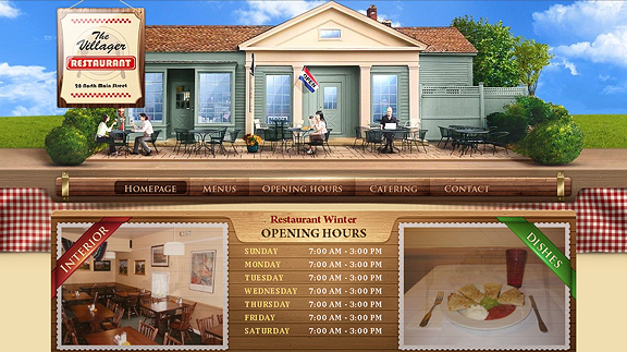 the villager 16 Beautiful Restaurant Websites