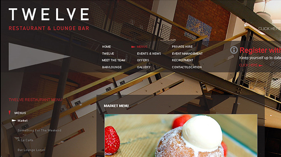 twelve restaurant 16 Beautiful Restaurant Websites