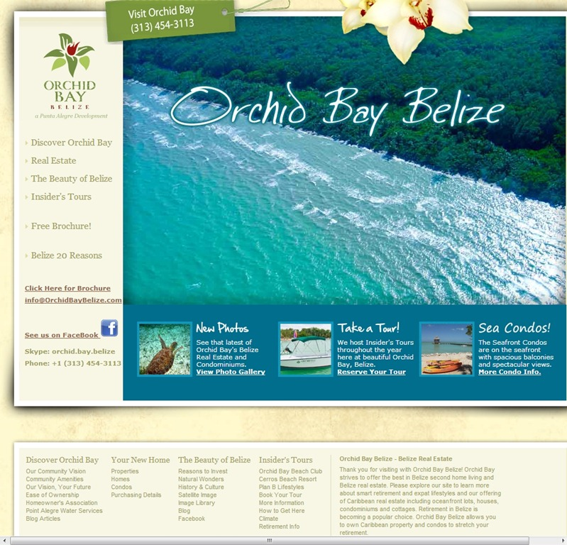 Orchid Bay travel website design