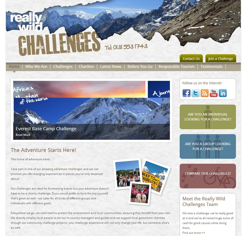 Really Wild Challenges best hotel website design