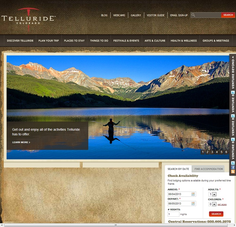 Telluride best travel website design