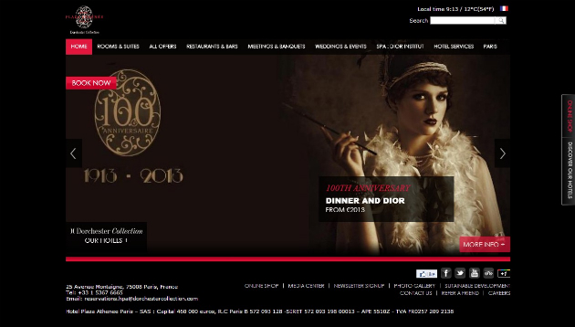 Plaza Athenee Paris 20+ Best Hotel Website Designs For Your Design Inspiration