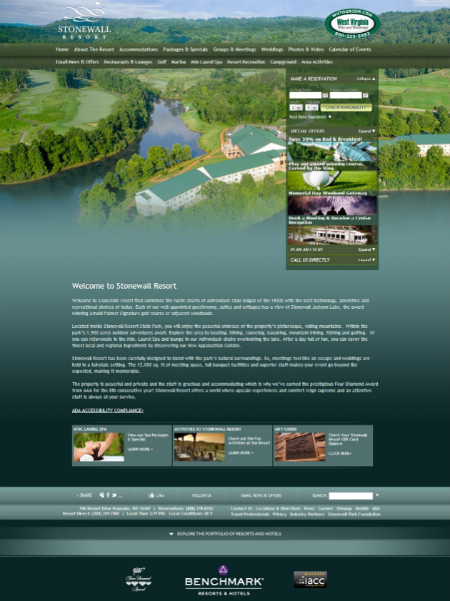 Stone Wall Resort 20+ Best Hotel Website Designs For Your Design Inspiration