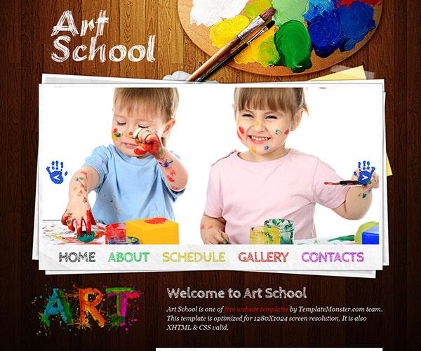Mẫu thiết kế web giáo dục - Art School