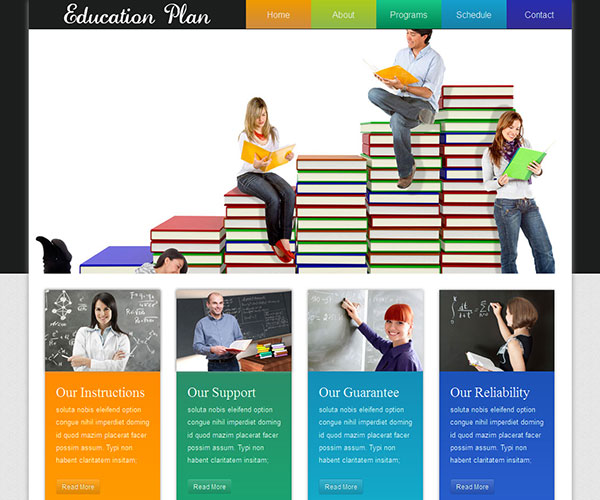 Mẫu thiết kế web giáo dục - Education Plan