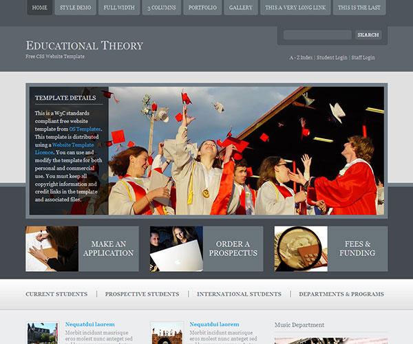 Mẫu thiết kế web giáo dục - Educational Theory