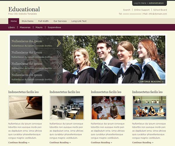 Mẫu thiết kế web giáo dục - Educational