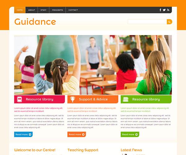 Mẫu thiết kế web giáo dục - Guidance