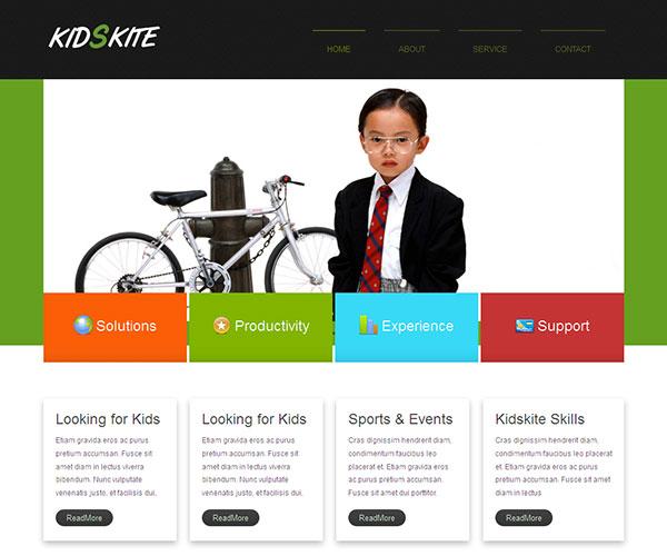 Mẫu thiết kế web giáo dục - Kids Kite