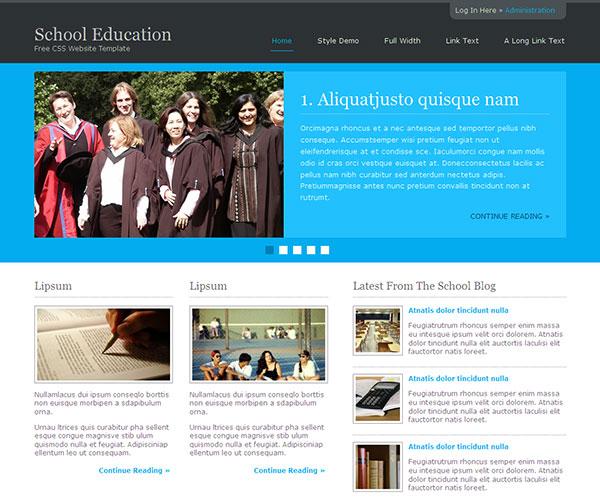 Mẫu thiết kế web giáo dục - School Education