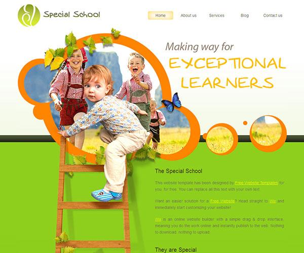 Mẫu thiết kế web giáo dục - Special School