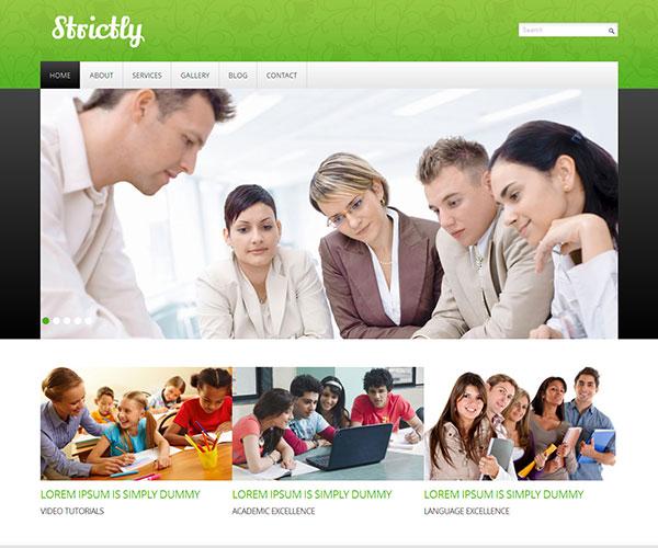 Mẫu thiết kế web giáo dục - Strictly
