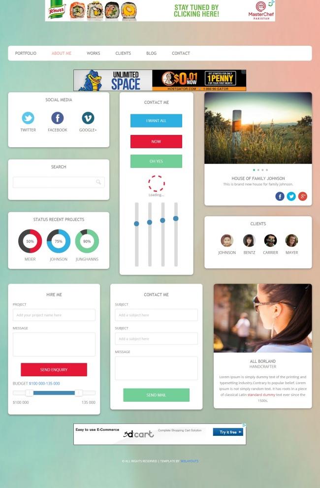 Tải về mẫu thiết kế web 02