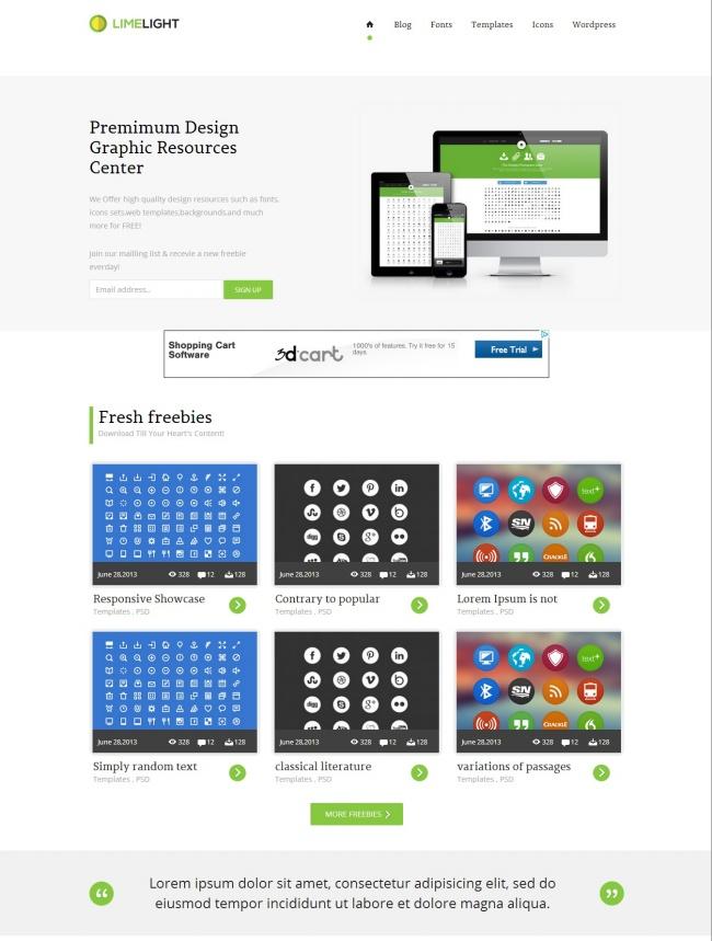 Tải về mẫu thiết kế web 17