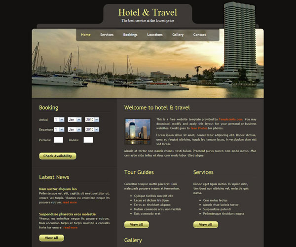 Tải về: Hotel & Travel Website Template