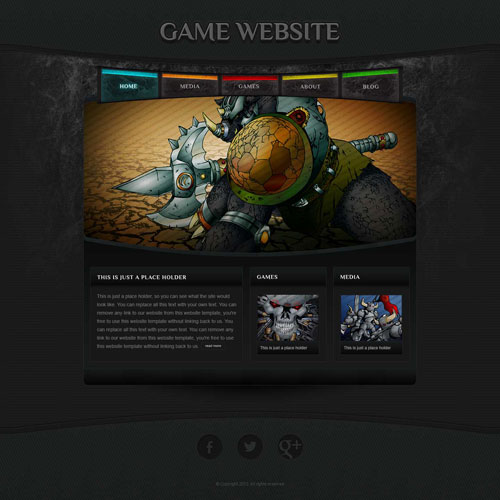 thiết kế web game