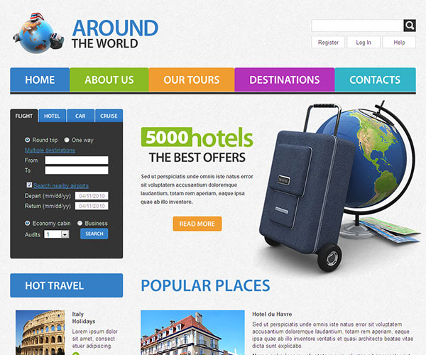 Free Around The World Website Template
