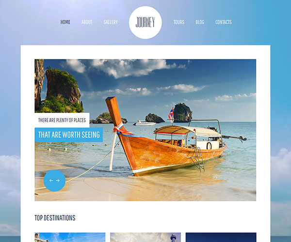 Free Journey Website Template