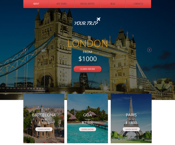 Your Trip Website Template