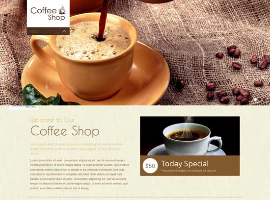 Coffee Shop - Free Responsive Website Template