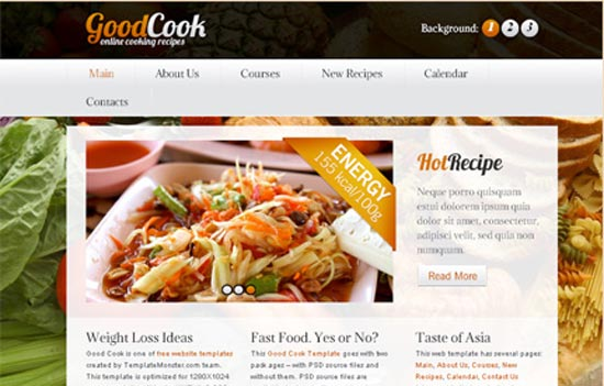 GoodCook - Recipes Template