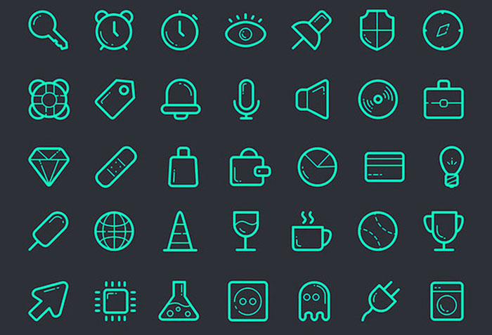 112 Outline PSD Icons