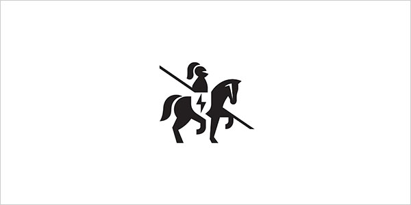 Horse-Negative-Space-Logo-Design