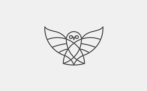 owl_Thin-line-logo-design
