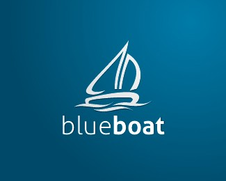 Blue Boat Logo Design