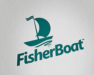 Fisher Boat Logo Design