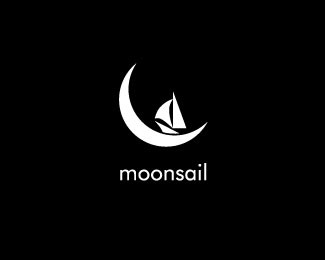 Moonsail boat logos Design