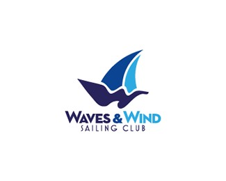 Waves and Wind Logo