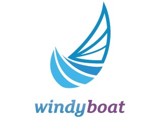 Windy Boat Logo Design