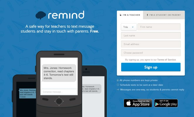 remind 101 blue header chat interface