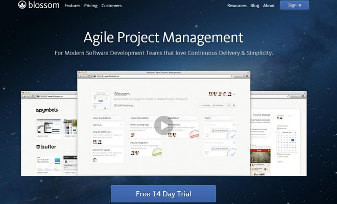 blossom agile project management header