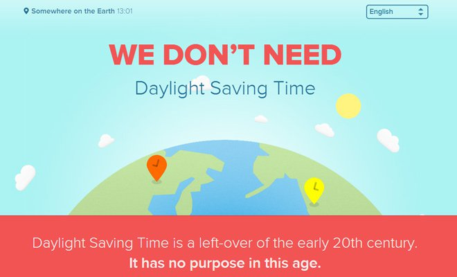 we dont need daylight savings time header