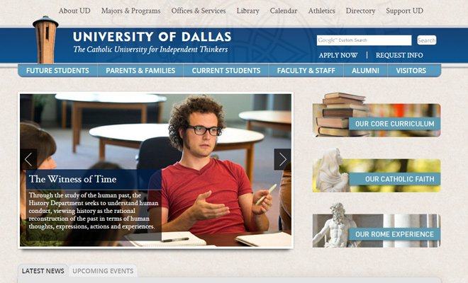 the university of dallas texas website