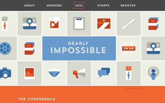 nearly impossible flat icons design 2013 layout