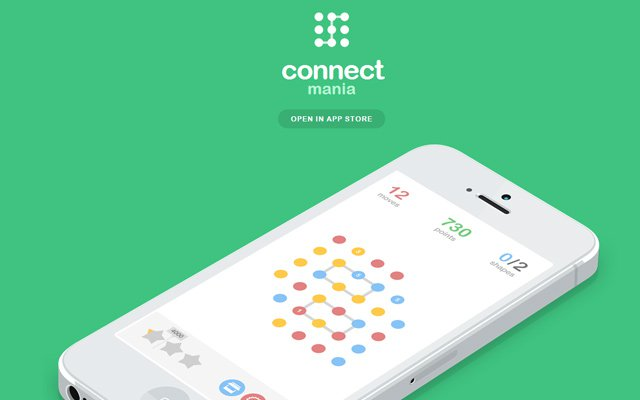 simple ios app mania connect design homepage