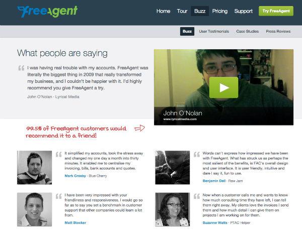 free agent testimonials