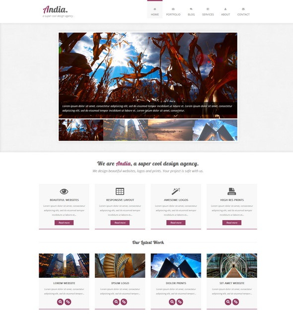 Andia - Responsive Agency Template