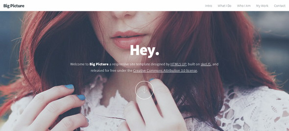 Big Picture HTML5 UP