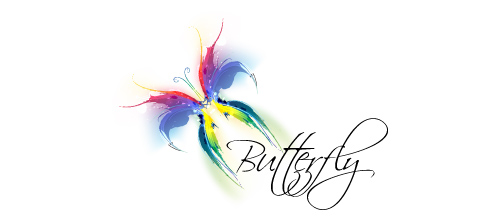 Multicolor Logo Designs Butterfly
