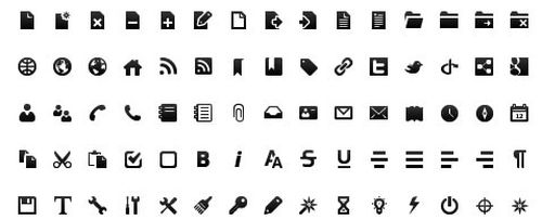 Black & White Toolbar Icon Set