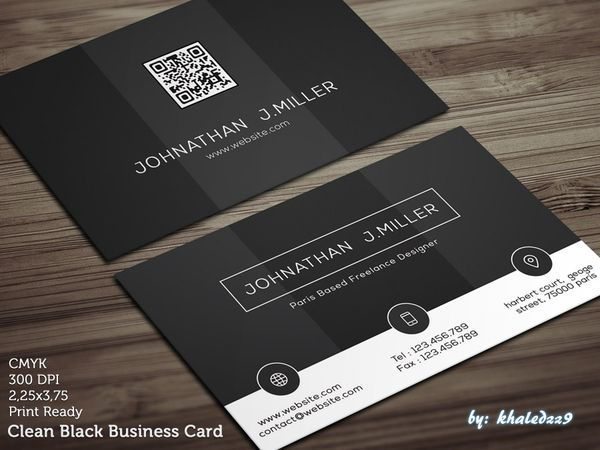 Clean-Black-Business-Card