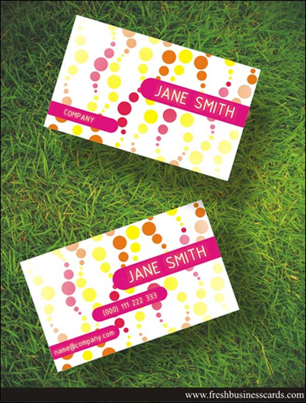 Free Women Business Card
